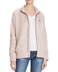 Members Only Satin Boyfriend Bomber Jacket Pink