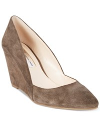 Inc International Concepts Zarie Suede Pumps Only At Macy's Women's Shoes Mushroom