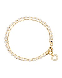 Heart Friendship Bracelet Astley Clarke White