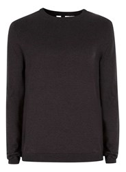 Topman Navy And Stone Twist Crew Neck Jumper Blue