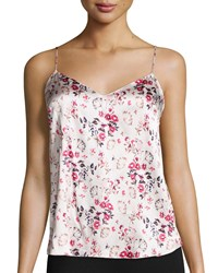 Stella Mccartney Ellie Leaping Floral Print Pj Camisole Size Small Botanicaljacquard