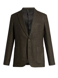 Helbers Single Breasted Tweed Blazer Brown Multi