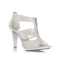 Michael Kors Berkley Tstrap High Heel Sandals Silver