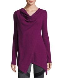 Marc New York Asymmetric Draped Tunic Ripe Fig