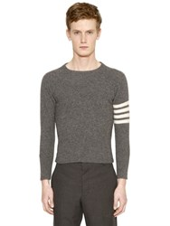 Thom Browne Intarsia Stripes Felted Cashmere Sweater