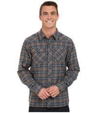 Outdoor Research Feedback Flannel Shirt Pewter Men's Long Sleeve Button Up
