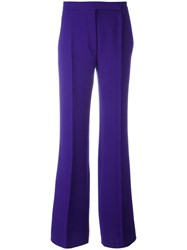 Marco De Vincenzo Flared Trousers Pink Purple