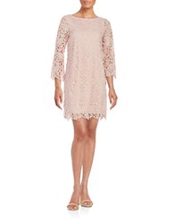 424 Fifth Lace Overlay Shift Dress Light Peach