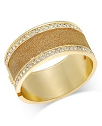Thalia Sodi Gold Tone Crystal Hinged Bangle Bracelet Only At Macy's