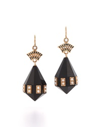 Fred Leighton Victorian Onyx And Pearl Pendant Earrings