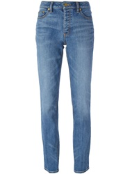Tory Burch Boyfriend Slim Jeans Blue