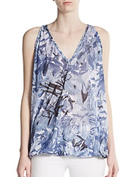 Sweet Pea Sleeveless Printed Blouson Top