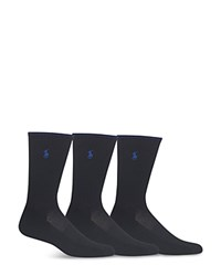 Polo Ralph Lauren Technical Sport Crew Socks Pack Of 3 Black