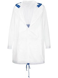 Pigalle Hooded Raincoat White
