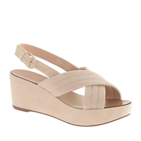 J.Crew Marcie Suede Wedges Sandy Brown