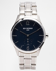 Ben Sherman Stainless Steel Strap Watch Wb003um Silver