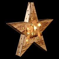 John Lewis Natural Holographic Star Christmas Light Warm White