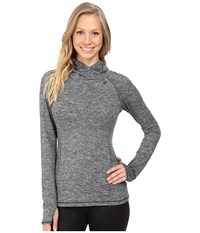 Asics Asx Lux Mock Neck Performance Black Women's Long Sleeve Pullover