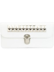 Comme Des Garcons Wallet Studded Wallet White