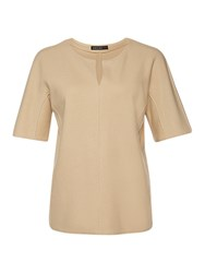 Marc Cain Wool Cashmere Jersey Top Camel