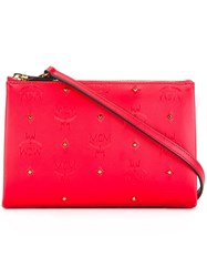 Mcm Studded Crossbody Bag Red