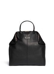 Alexander Mcqueen Leather Manta Bag Black
