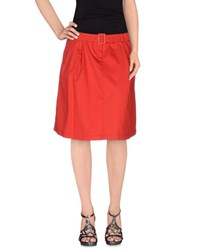 Armani Jeans Skirts Knee Length Skirts Women Red