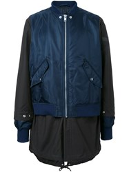 Diesel Layered Bomber Jacket Blue