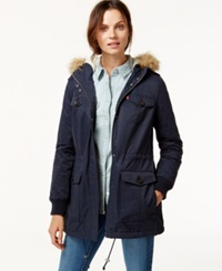Levi's Hooded Faux Fur Sherpa Lined Jacket