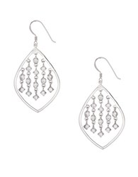 Lord And Taylor Cubic Zirconia Sterling Silver Drop Earrings
