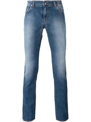 Etro Stone Washed Jeans Blue