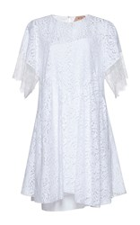 N 21 No. Consuelo Bell Sleeve Mini Dress White