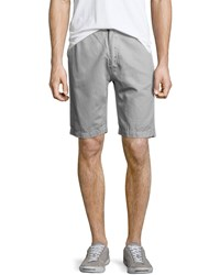 7 For All Mankind Linen Cotton Flat Front Chino Shorts Light Gray Men's Light Grey