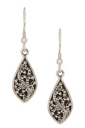 Lois Hill Sterling Silver Filigree Drop Earrings Metallic