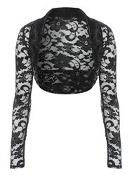 Jane Norman All Over Lace Shrug Black