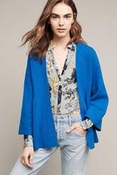 Anthropologie Alcott Belted Cardigan Blue