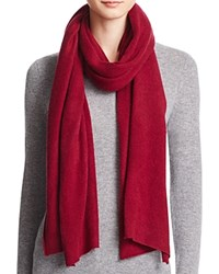 Bloomingdale's C By Bloomingdales Cashmere Angelina Solid Scarf Pinot