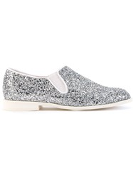 Astraet Glitter Loafers Metallic
