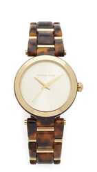 Michael Kors Delray Watch Gold Tortoise