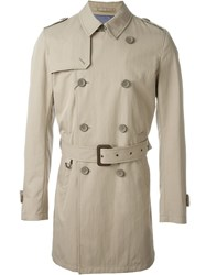 Herno Belted Trench Coat Nude And Neutrals
