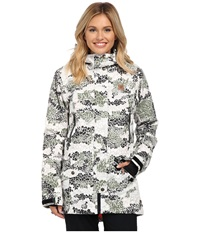 Dc Nature Disruptive Pattern Material J Snow Jacket Disruptive Pattern Material Camo Women's Coat White