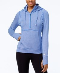 Tommy Hilfiger Half Zip Striped Hoodie Only At Macy's Electric Blue Combo