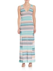 Parker Stripped Sleeveless Gown Multi