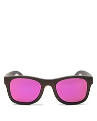 Finlay And Co. Ledbury Mirrored Wooden Wayfarer Sunglasses 50Mm Wood Pink Mirror