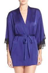 Josie Washed Satin Robe Purple