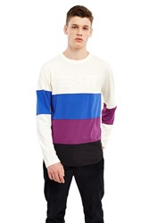 Esprit By Opening Ceremony Logo Long Sleeve T Shirt White Blue Purple
