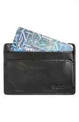 Men's Boconi Plaid Trim Card Case Black Online Only Black Blue