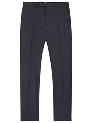 Reiss Judge Check Wool Modern Fit Suit Trousers Navy