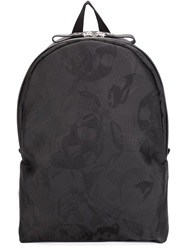 Alexander Mcqueen Skull Head Backpack Black