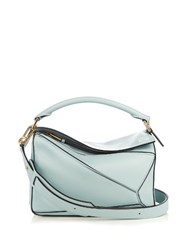 Loewe Puzzle Small Leather Bag Light Blue